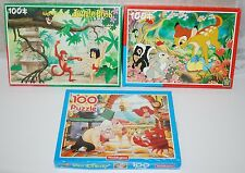 VINTAGE Puzzle Disney Libro della Giungla BAMBI (RE) LA SIRENETTA (Waddingtons)