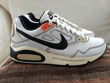 Nike Air Max White Leather Trainers Size 5 UK Older Boys/Girls