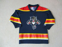 VINTAGE CCM Florida Panthers Hockey Jersey Youth Small Size 4-6 Blue Kids Boys