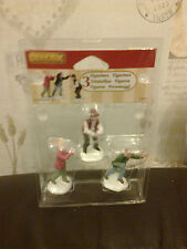 LEMAX 3 FIGURINES SNOWBALL FIGHT APPROX 6CM TALL 42241 NEW BOXED