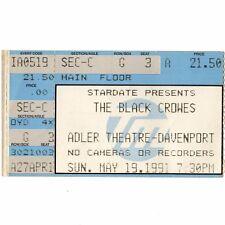 The Black Crowes & Jellyfish Concert Ticket Stub Davenport Iowa 5/19/91 Adler