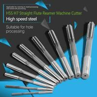 10x HSS H7 Reamer Maschinen-Reibahle H7 Ø3/4/5/6/7/8/9/10/11/12mm Zylinderschaft