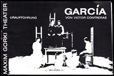 Theaterprogramm, Maxim Gorki Theater, Victor Contrerac, Garcia, 1986