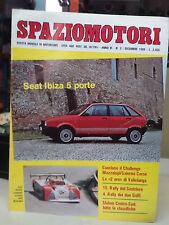 SPAZIO MOTORI Rivista mensile di motorismo Anno VI n.3  Dicembre 1986  pagine 26