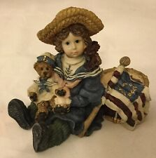 """Boyds Bears Resin """"Betsy with Edmund"""" Yesterday's Child The Dollstone Collection"""