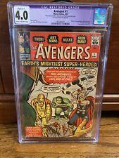 Avengers #1 CGC 4.0 1963 Thor! Captain America! Iron Man!