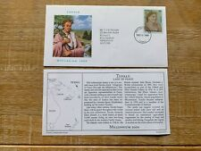 TUVALU 2000 FDC PCS LADY OF PEACE ALLEGORIES OLIVE BRANCH ART PAINTING #RARE#