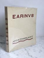 Earinus Montherlant Emile Hazan & Cie París 1928 Copia Numerada / Barra De