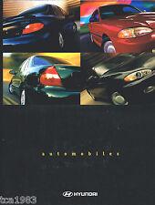 1997 HYUNDAI ACCENT / SONATA / ELANTRA Brochure / Pamphlet with TIBURON Poster