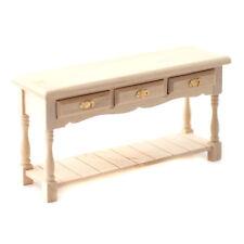 Dollhouse Miniature Unfinished Kitchen Side Board Buffet with Pot Shelf 1:12