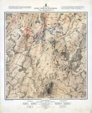 1876 of Battle of Gettysburg  shows three days SET of THREE MAP POSTERS 11605