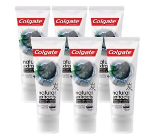 Colgate Whitening  Natural Extracts  Toothpaste Activated Charcoal 6  x75 ml