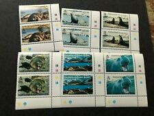 south georgia stamps scott 151-156 pairs scv 28.00 a1119