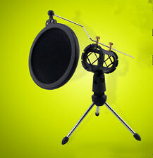 Shock Mount Microphone Stand Holder with Integrated Pop Filter  Kit Promotion