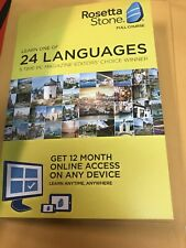 Rosetta Stone 24 languages 12 Month Subscription Key-Code only (No cd)