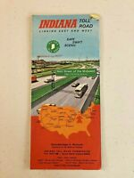 Vintage Indiana Toll Road Map, 1970