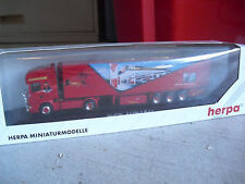 RARE Herpa Private 1/87 Airbrush Suchalla Red Indian Tractor Trailer Truck NIB