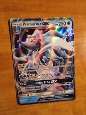 NM Pokemon PRIMARINA GX Card SUN and MOON Base Set 42/149 SM Ultra Rare Holo TCG