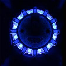 Auto 15 LED Round Beacon Emergency Strobe Flashing Warning Lights Car Safety
