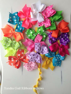 "10 - 2""  Hair Bows Boutique Girls Baby Toddler Alligator Clip Grosgrain Ribbon"