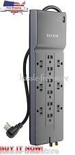 Power Strip Surge Protector Belkin 12 Outlet 8ft Cord Phone & Coaxial Protection