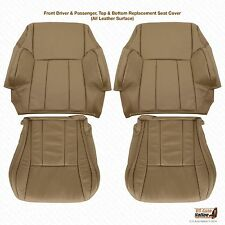 1998 1999 Toyota 4Runner Driver & Passenger  Bottom/Top Leather Seat Cover Tan