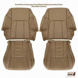 Driver & Passenger Bottoms/Tops Leather Cover Tan For 1996 - 2002 Toyota 4Runner