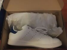 Adidas ORIGINALS STAN SMITH White/Navy/Blue Casual Sneakers Boys 6.5/Women's 7.5