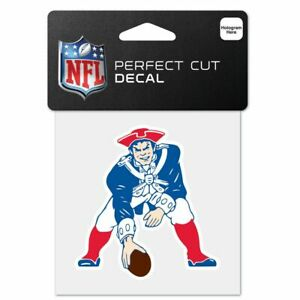 """New England Patriots Throwback Logo Wincraft NFL Perfect Cut Color Decal 4"""" X 4"""""""
