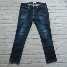 Acne Studios Distressed Denim Jeans Size 34 x 29 Dark Wash Slim Skinny