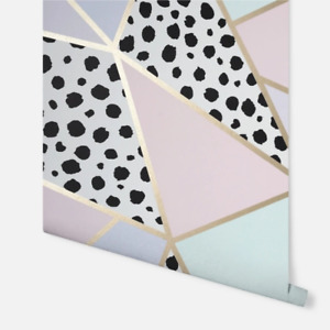 Dalmatian Fragment Apex Geometric Wallpaper in Pastel Colours by Arthouse 908508