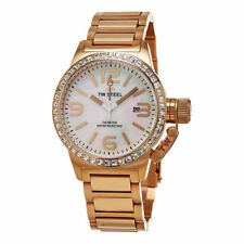 newstuffdaily: NIB TW Steel TW306 Canteen MOP Rose Goldtone Ladies Watch
