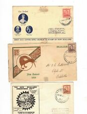 NEW ZEALAND 1937/47 Group of FDCs,cds CHRISTCHURCH etc   (3 Covers)