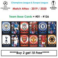 Champions League - Match Attax 2019 - 2020: Team Base Cards #01 - #126 (UK)