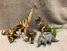 Lot of 6 Schleich Junior Dinosaurs - Tyrannosaurus, Triceratops, Velociraptor