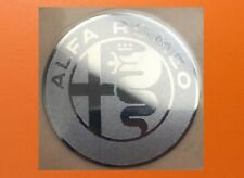 1 pcs Alfa Romeo Skylake Silver Chrome Color Sticker Logo Decal Badge 30 x 30mm