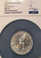 2019 MEXICO SILVER LIBERTAD 2 ONZA NGC MS 70 PERFECTION EARLY RELEASES !!!