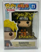 FUNKO POP NARUTO SHIPPUDEN VOICE ACTOR MAILE AUTOGRAPHED JSA CERTIFIED IN HAND
