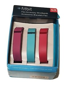 Fitbit Flex Vibrant Fitness Bands 3-Pack Size Small Violet, Teal, Pink NEW