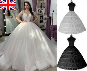 RULTA UK Women 6 Hoops Petticoat Bridal Wedding Ball Gown Dress Underskirt O1
