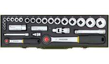 Proxxon PKW-Steckschlüsselsatz mit 1/4 Zoll- und 1/2 Zoll-Ratsche, 27-teilig - 2