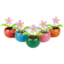 High Quality New Flip Flap Solar Powered Flower Auto Car Dancing Swing Toy Y