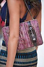$1,695 Burberry Prorsum Beetroot Woven Clutch Women Hand Shoulder Bag Wallet NEW
