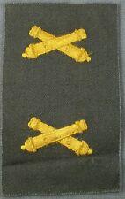 US Army Field Artillery Vintage Cloth Branch Insignia - NOS Pair