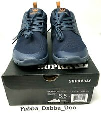 Supra Scissor Navy Nylon Athletic Lace Up Running Shoes 05669-469 SZ 8.5 NEW!