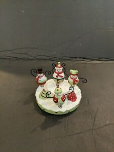 Our American Snowman Stay On Jar Topper