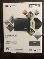 PNY 480GB PORTABLE SSD ELITE USB 3.1 GEN 1 EXTERNAL SSD BACKUP NEW SEALED Fast