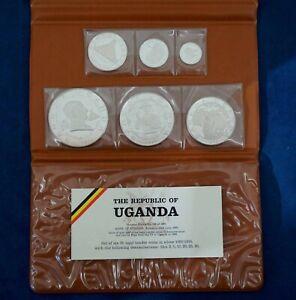 1969 Republic of Uganda 6-Coin Silver Proof Set - Free Shipping USA