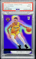 Kyle Kuzma 2017-18 Panini Vanguard Purple Rookie RC /25 Lakers PSA 9 POP 1