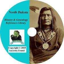 28 old books NORTH DAKOTA -  History & Genealogy - ND Families County  DVD